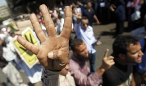 """Four Fingers"" - Morsi Supporters"