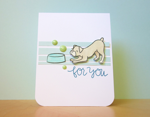 For You Puppy Card
