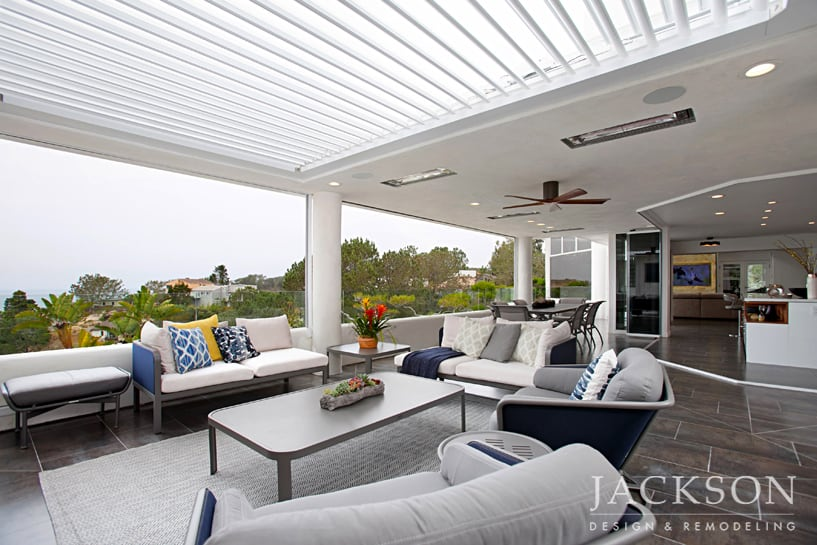 outdoor living rooms pictures room color ideas with black furniture backyard design patio designs in san diego this space presents the ultimate experience indoor a louvered roof glass side panels recessed screens and fireplace