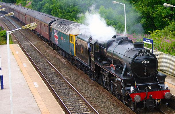 On the Settle-Carlisle line near Langcliffe, Ribblesdale