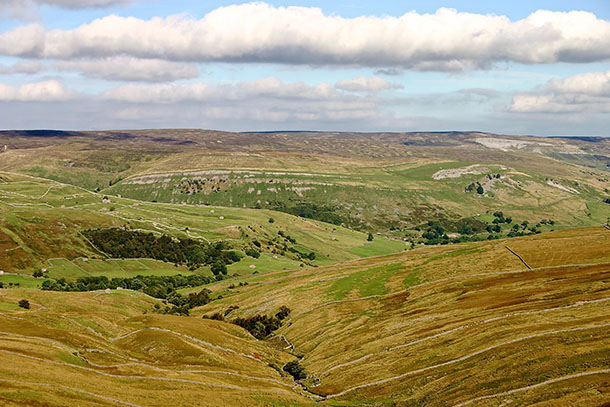 View over upper Swaledale from Buttertubs Pass