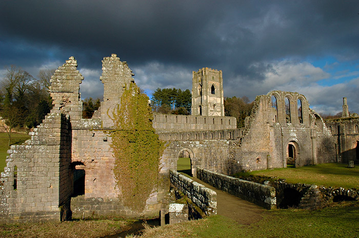 Stormy February day at Fountains Abbey