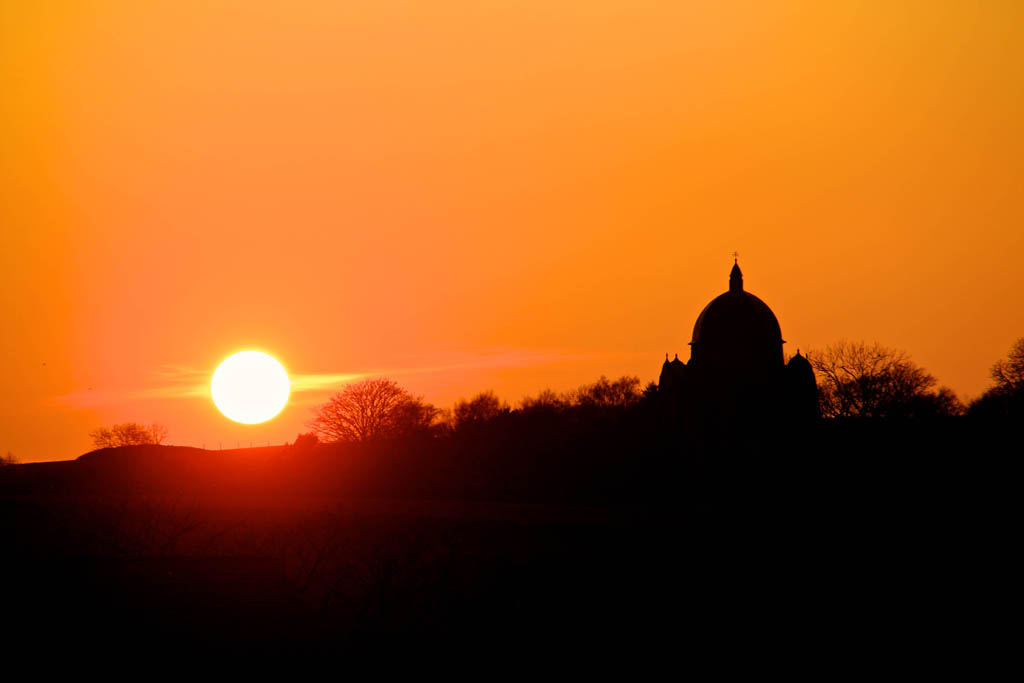 APR Giggleswick chapel at sunset