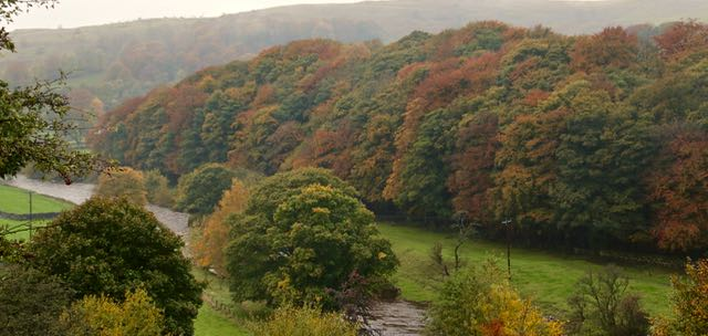 Changing colour by the Ribble