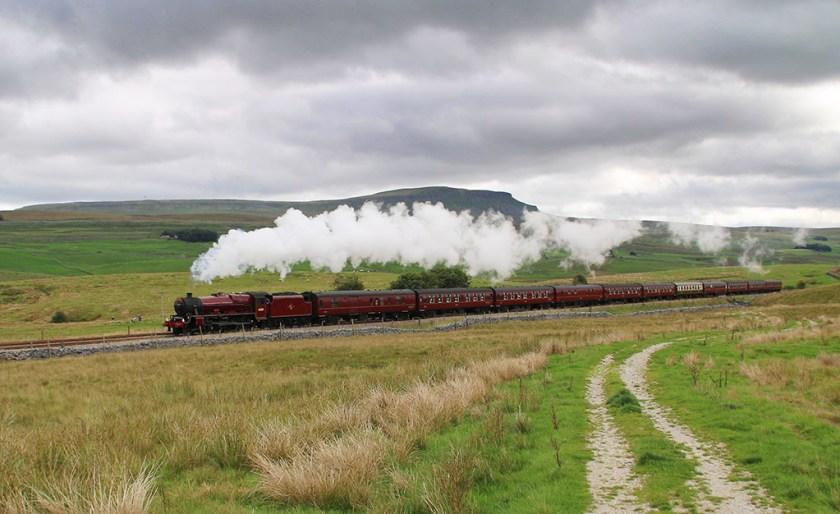 Dales steam train on Settle-Carlisle line