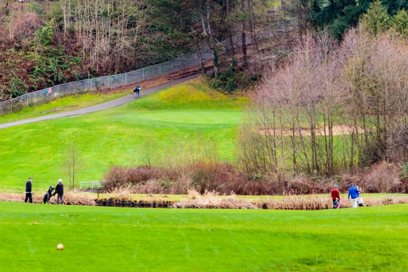Year's first group on first hole