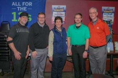 Cory, Ryan Whitney, Kathy Wake, Greg Van Hollebeke, and Jeff Schoening