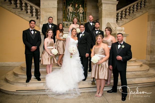 Liz and Alex at The Walters Art Museum  Jackson Photography  Modern Wedding and Event