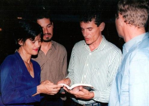 Lançamento do livro Irecê - Um Pedaço Histórico da Bahia, de Jackson Rubem, com a presença do então deputado estadual Zé das Virgens, vereadora Aninha e o então gerente da Embasa Elmo Vaz.