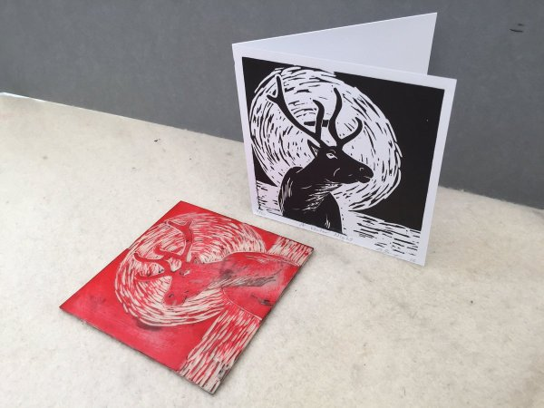 Inspired Great Linocut Christmas Cards