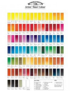 Winsor  newton professional watercolour hand painted colour chart also rh jacksonsart