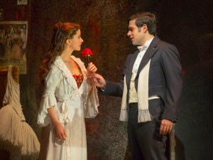 THE PHANTOM OF THE OPERA 2 - Katie Travis and Storm Lineberger - photo by Matthew Murphy