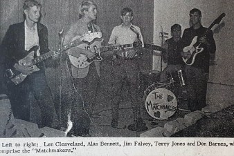 The Matchmakers were Don Barnes' (far right) first band 1967
