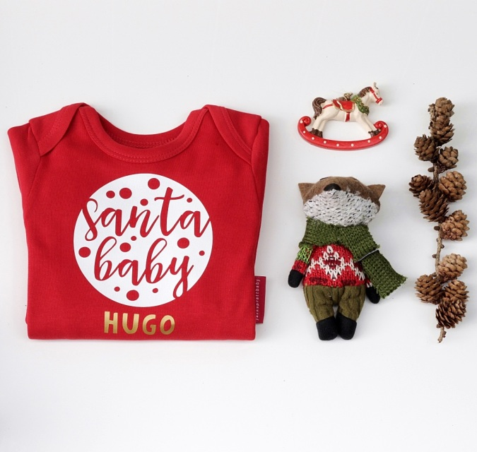 First Christmas Baby Grow Romper For Babies First Christmas