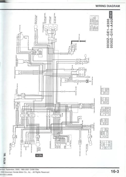 small resolution of honda elite wiring diagram