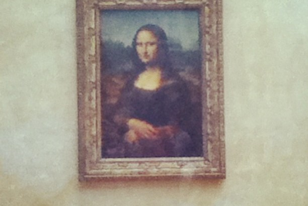 The Mona Lisa in the Louvre