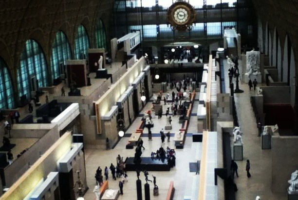 The central hall of the Musee d'Orsay