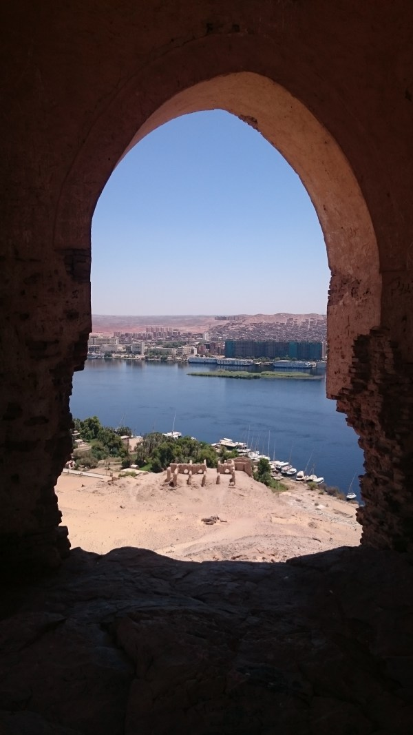 Looking over the Nile from the top of the Tombs of the Nobles