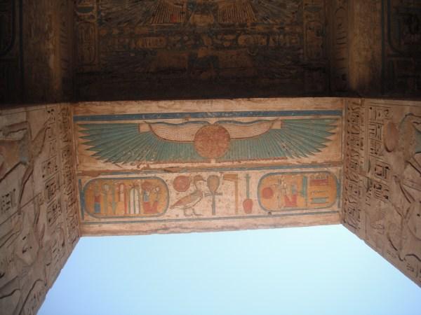 Ceiling Hieroglyphics at Medinet Habu