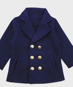 Navy Girls Peacoat Classic