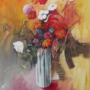 Bouquet rouge -  80 X 100 cm