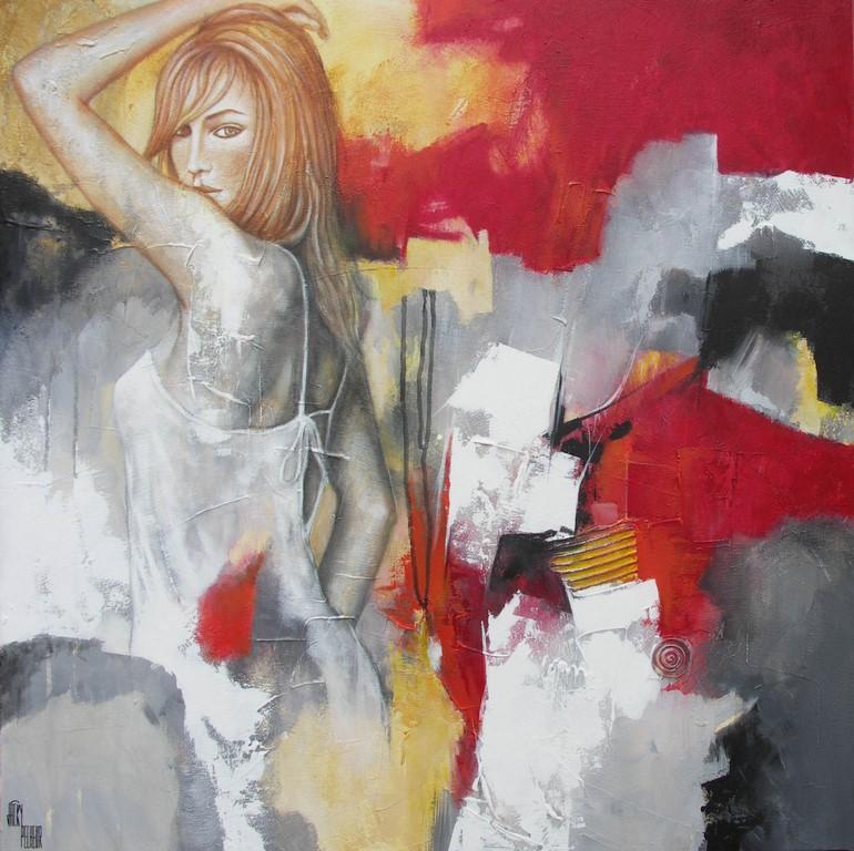 Soirée romantique - 80 X 80 cm