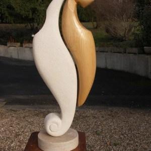 le ying et le yang - Pierre et Châtaigner - 85 cm
