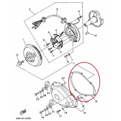 Joint de carter pour générateur Yamaha WRA650 1990 1996
