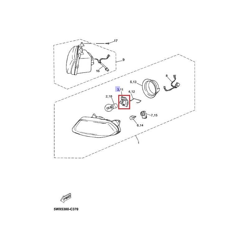 Cordon de fil complet Yamaha CW50 1992 2000 TZR50 2003