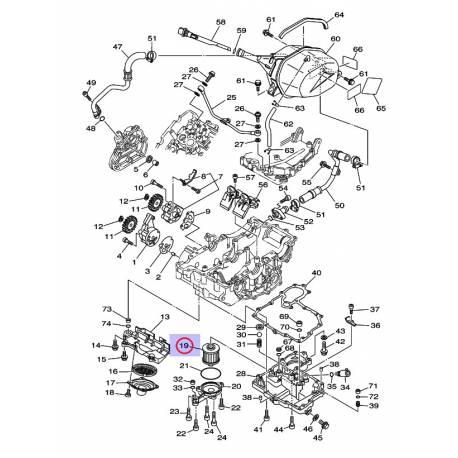 Filtre à huile pour Yamaha TDM 900 02-10, XVS 125 Dragstar