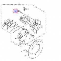 Goupille axe de plaquette d'étrier arrière pour Yamaha YZF