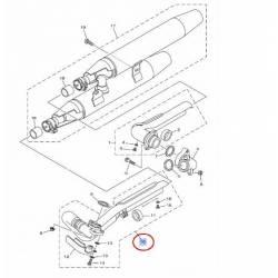 Coude d'échappement pour Yamaha XVS 1100 Dragstar de 1999