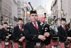 St Patrick's Day / Piccadilly Circus, London, UK