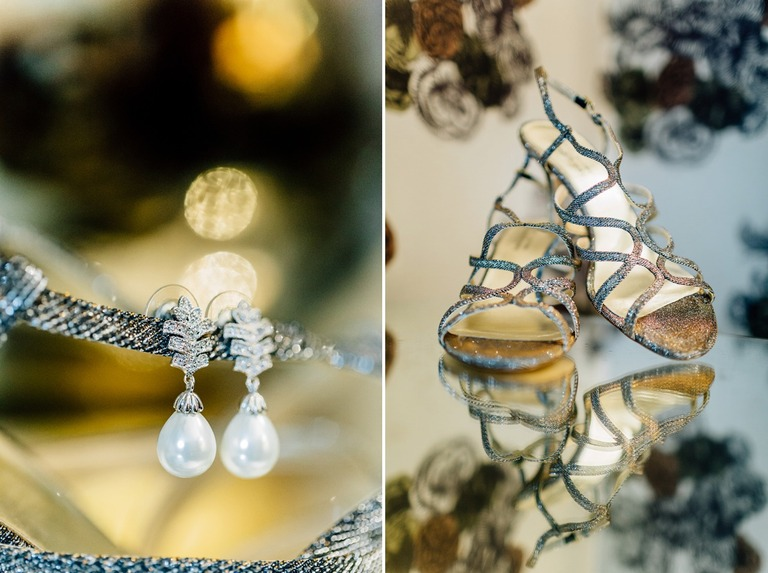 Wedding Earrings at the Dorchester Hotel in London