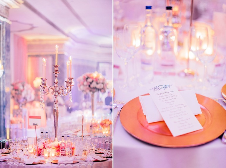Wedding Details at the Dorchester Hotel in London