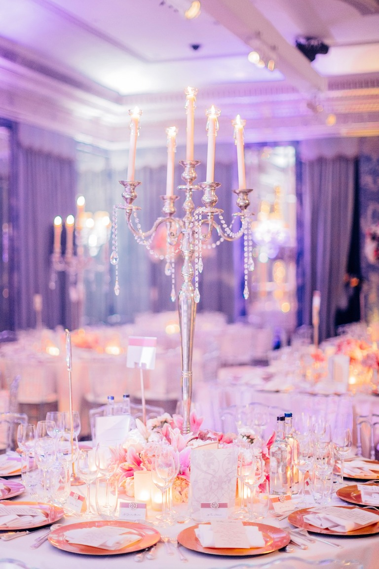 Wedding Candleholder at the Dorchester Hotel in London