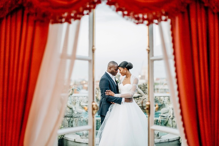Wedding Couple Photography at the Dorchester Hotel in London