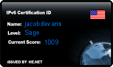 IPv6 Certification Badge for jacobdevans