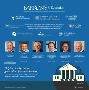 Barrons Wilkes 298x300 - Jacobi Partners with Barron's in Education