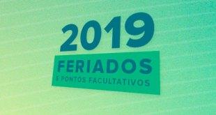 Resultado de imagem para calendário de feriados 2019 prefeitura