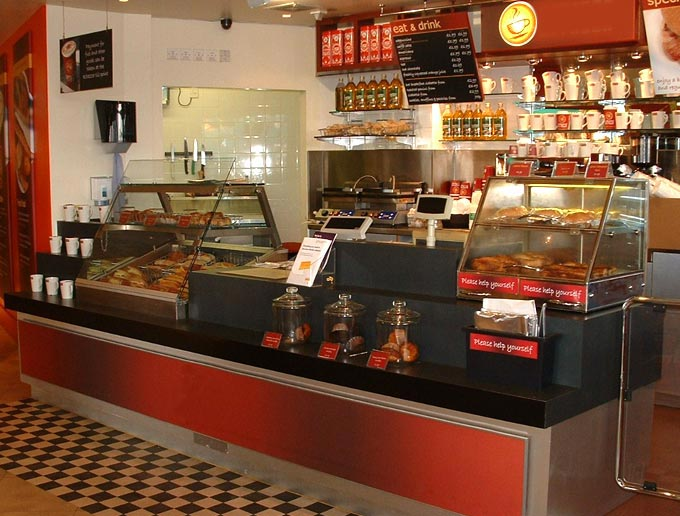 Coffee Counters Motorway Services  Food Outlet Joinery Design and Installation  Coffee Bar Counter