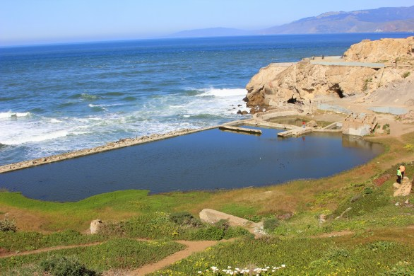 The Sutro Baths are the remains of a late-19th century public bathhouse. It was huge.