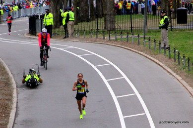 Desi Linden, the top American woman in fourth.