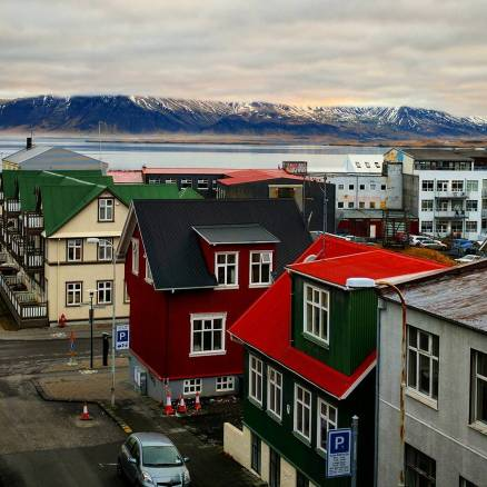 Reykjavik from the window of our Air BnB