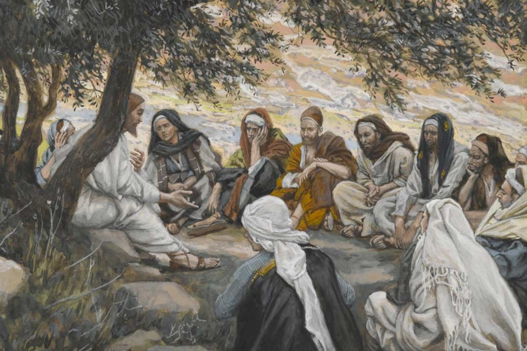 Jesus exhorts the apostles