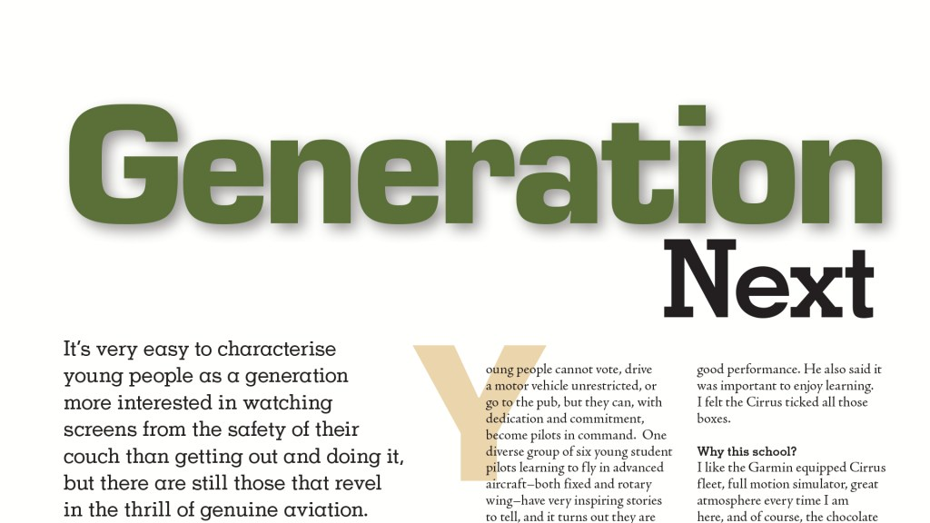 Generation Next and the Jacobson Flare: Australian Flying Magazine – Nov/Dec 2020