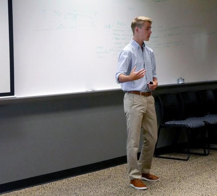Trey Robinson presents his final company pitch