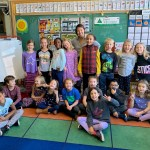 Volunteer with elementary school classroom