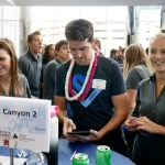 Envestnet volunteer with three Rock Canyon High School students