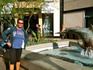 Anna Deshautelle in La Jolla for the triathlon